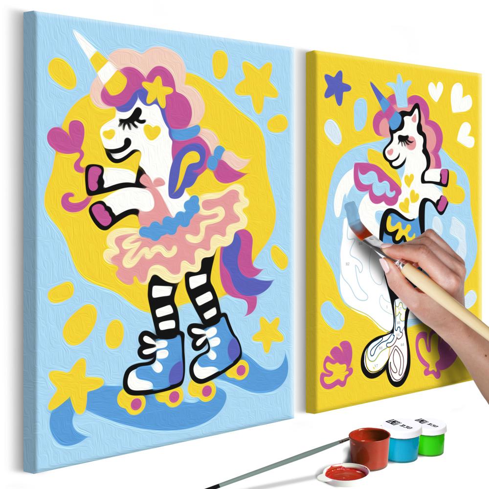 Malování podle čísel - Funny Unicorns 33x23