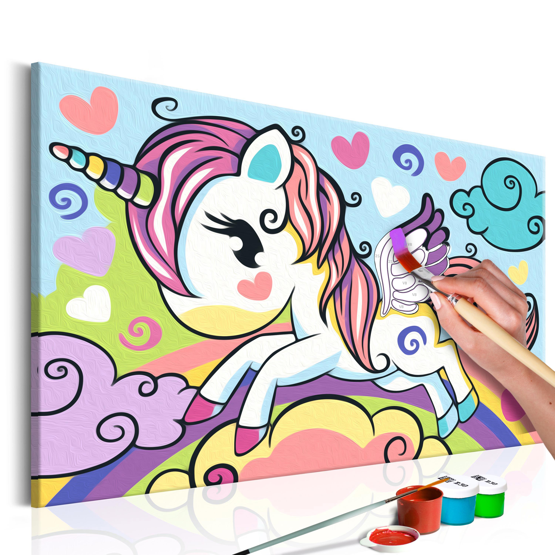 Malování podle čísel - Colourful Unicorn 33x23