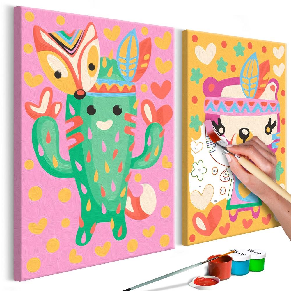 Malování podle čísel - Cactus & Bear 33x23