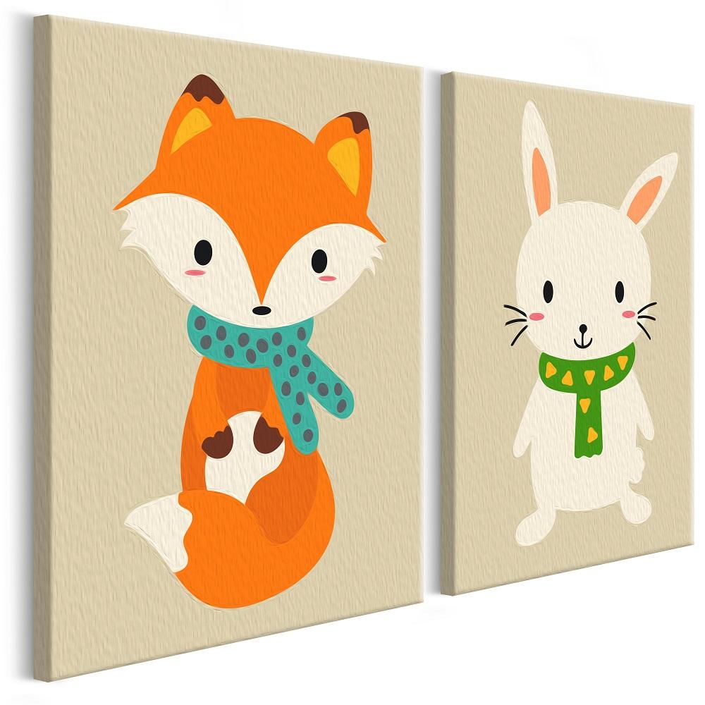 Malování podle čísel - Fox & Bunny 33x23