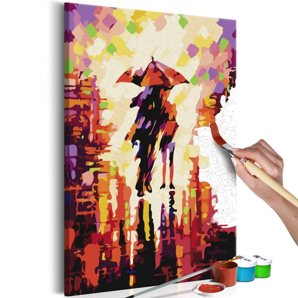 Malování podle čísel - Couple In The Rain 40x60