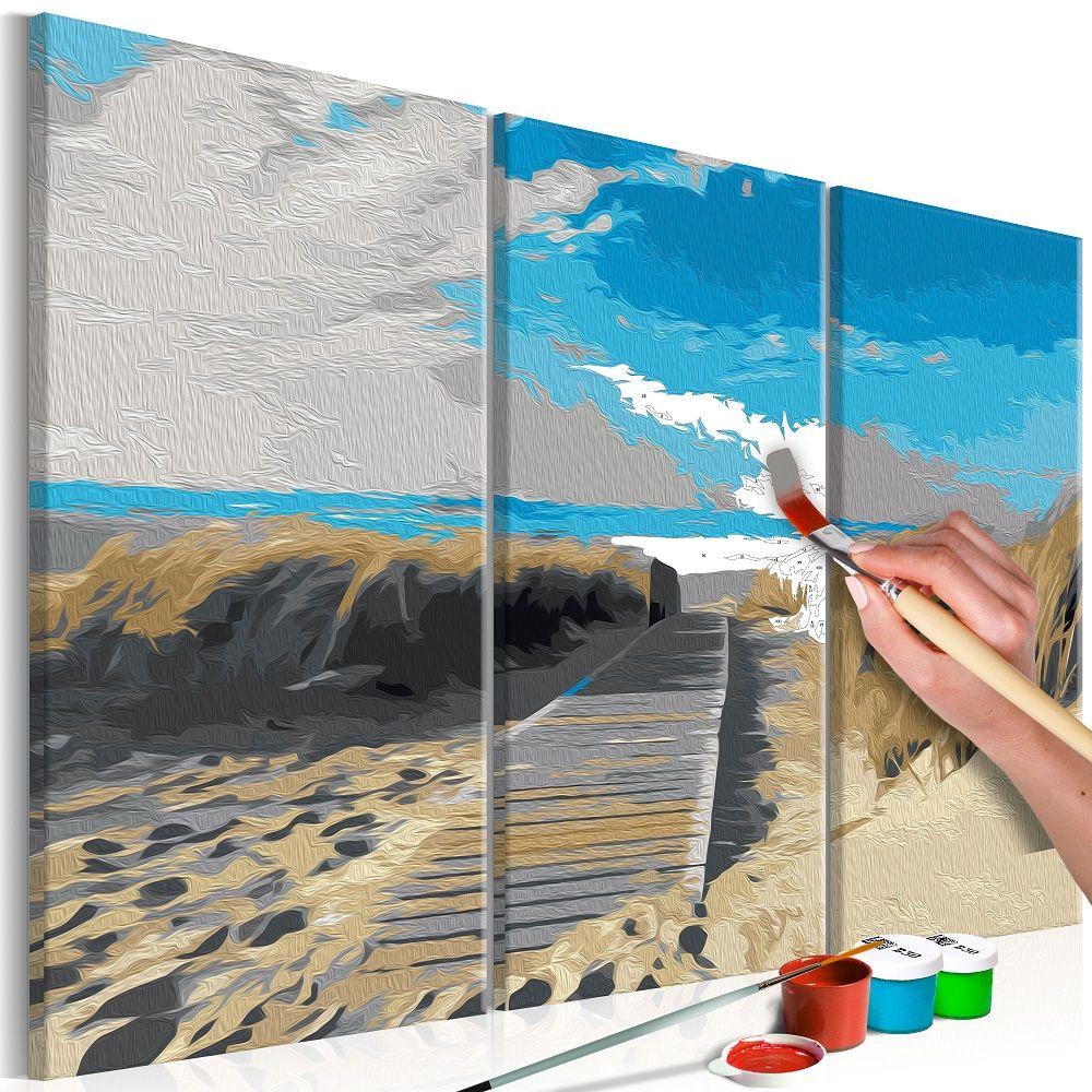 Malování podle čísel - Beach (Blue Sky) 60x40