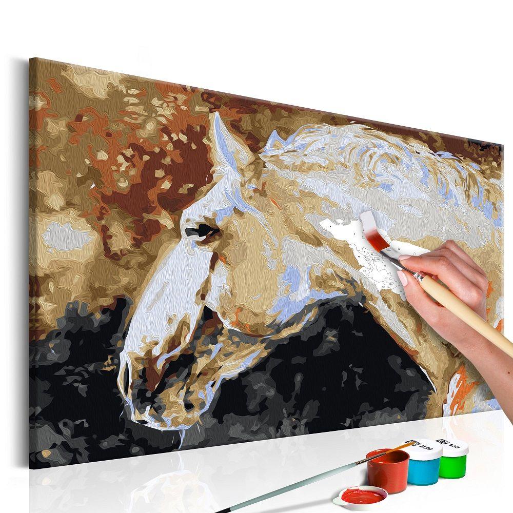 Malování podle čísel - White Horse 60x40
