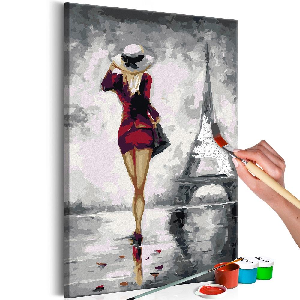 Malování podle čísel - Parisian Girl 40x60