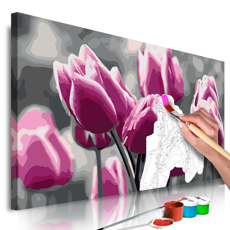 Malování podle čísel - Tulip Field 60x40