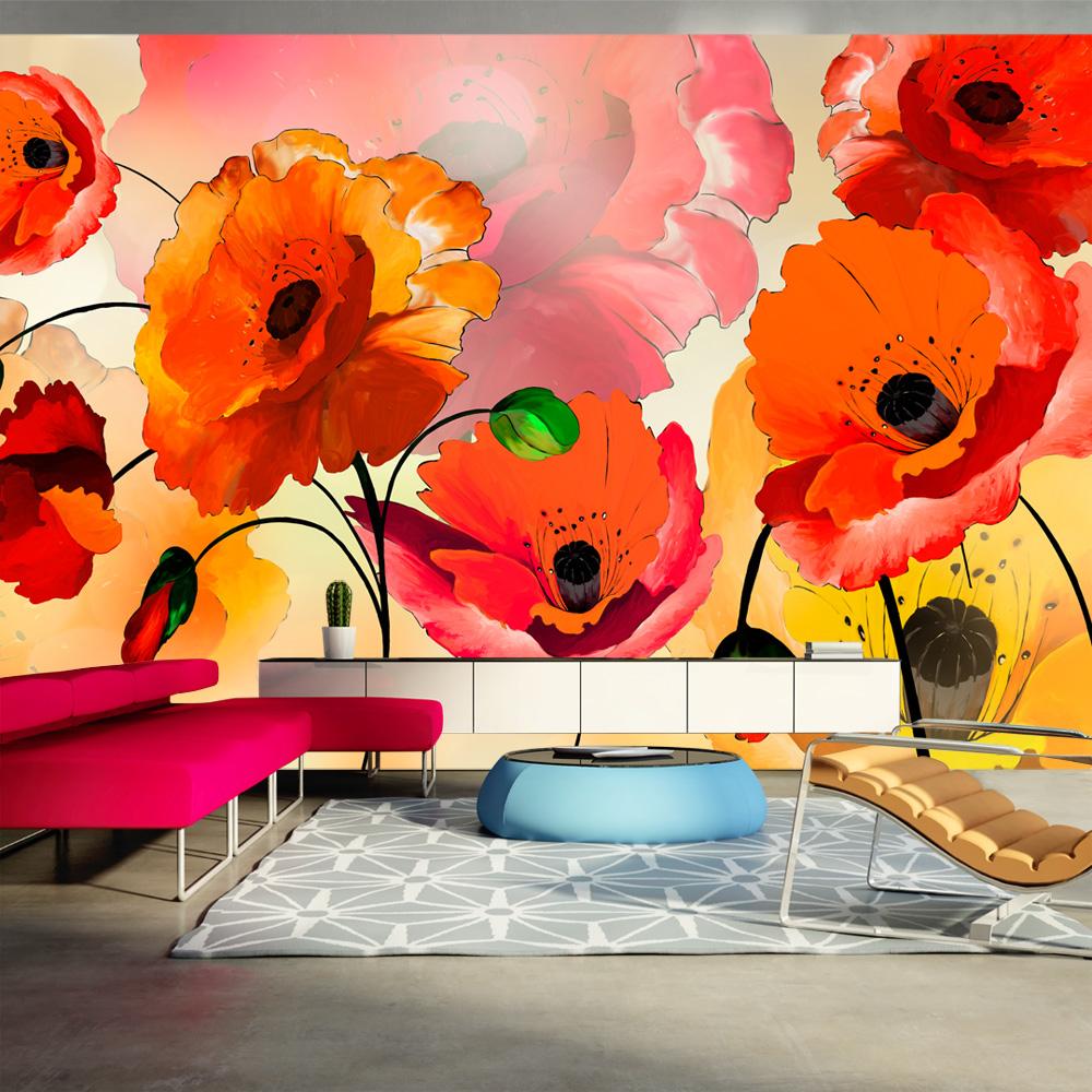 Fototapeta XXL - Velvet poppies 500x280