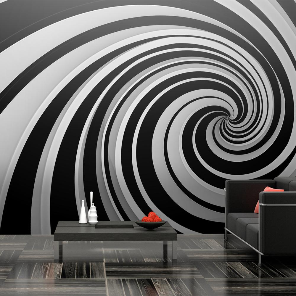 Fototapeta XXL - Black and white swirl 550x270
