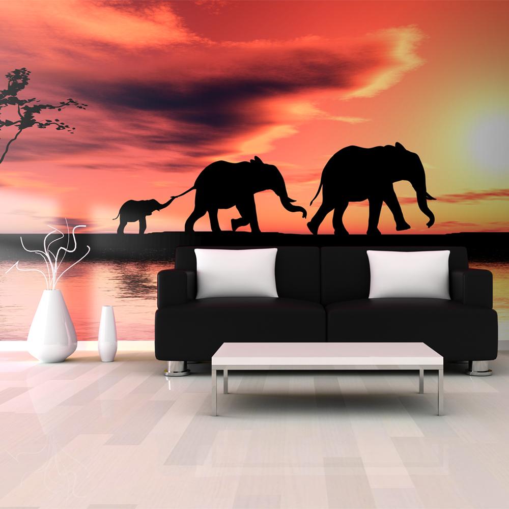 Fototapeta XXL - sloni: rodina 550x270