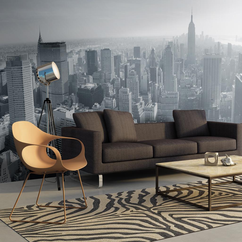 Fototapeta XXL - New York City skyline in black and white 550x270