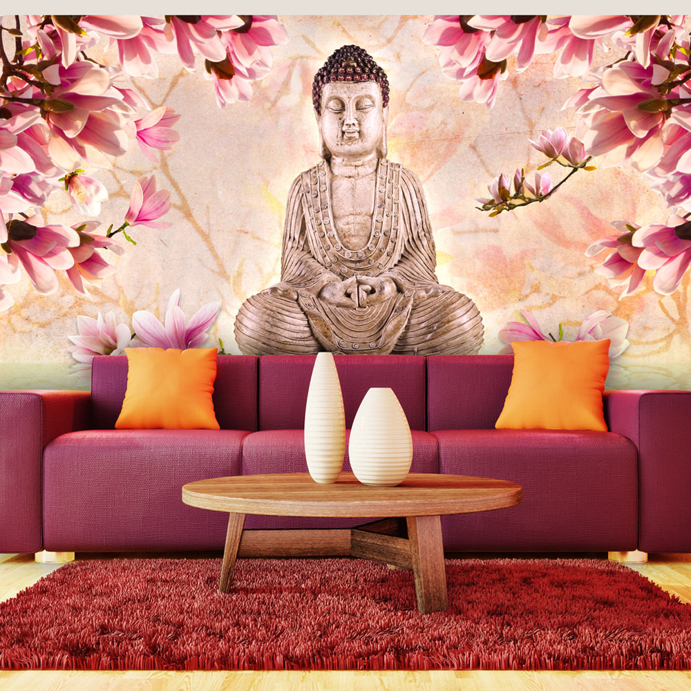 Fototapeta XXL - Buddha a magnólie 550x270