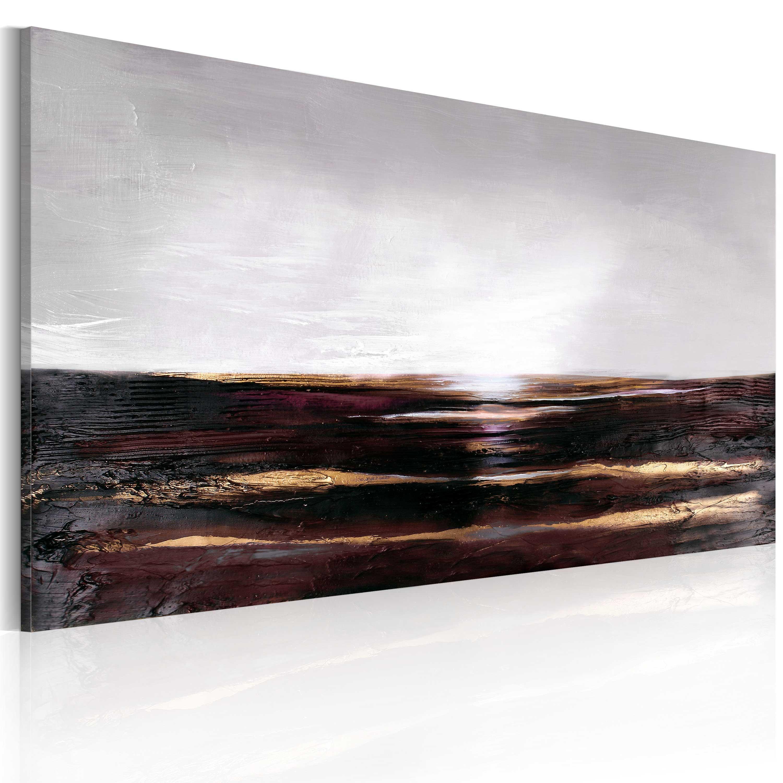 Ručně malovaný obraz - Black ocean 120x60
