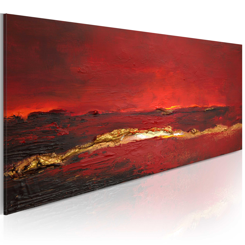 Ručně malovaný obraz - Redness of the ocean 100x40