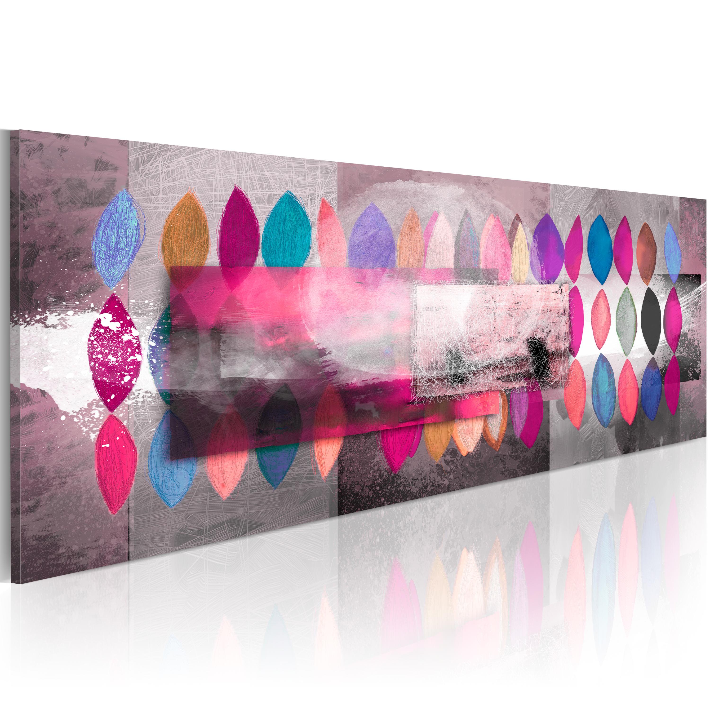 Ručně malovaný obraz - Color trends 120x40