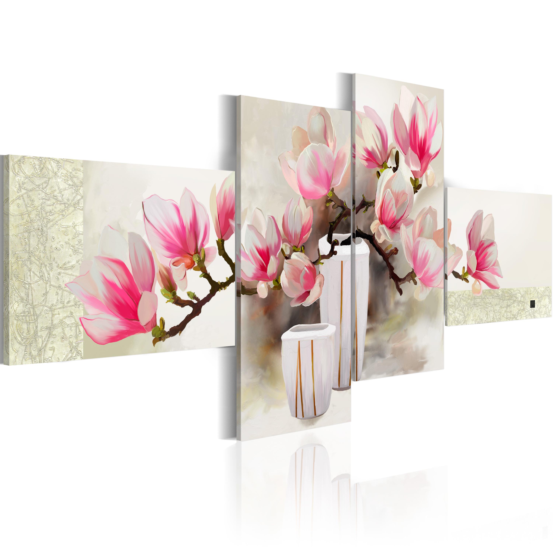 Ručně malovaný obraz - Fragrance of magnolias 100x45