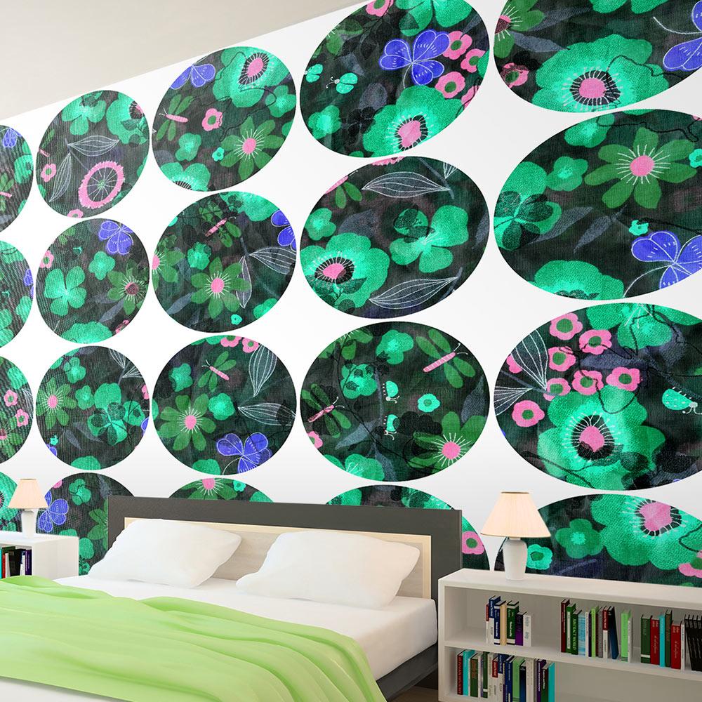 Fototapeta - Green meadow - circle 50x1000