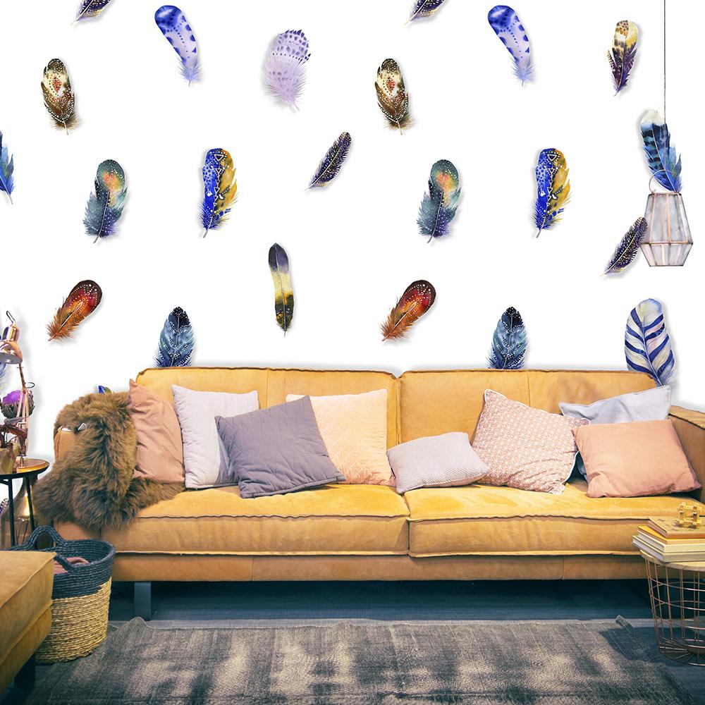 Fototapeta - Colorful Feathers 50x1000
