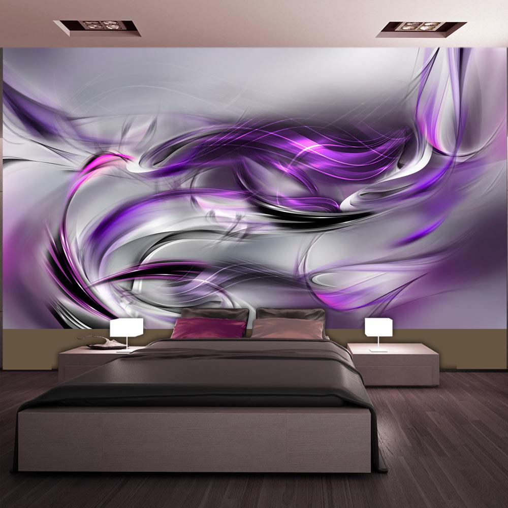 Fototapeta XXL - Purple Swirls II 500x280