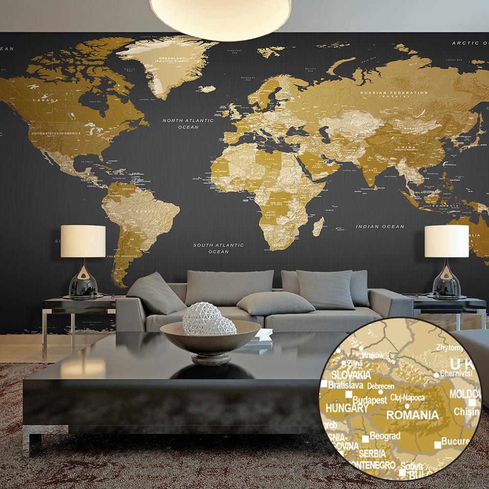 Fototapeta XXL - World Map: Modern Geography II 500x280