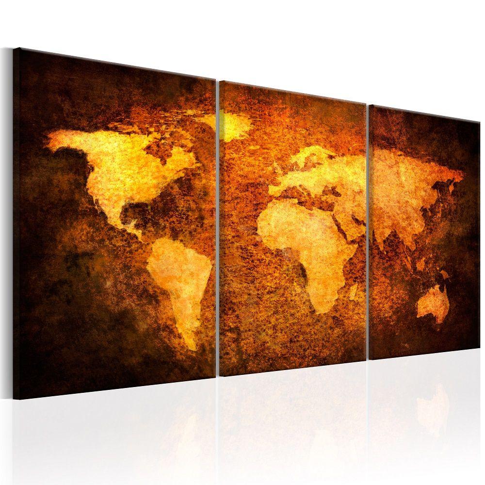 Obraz - Rusty continents 120x60