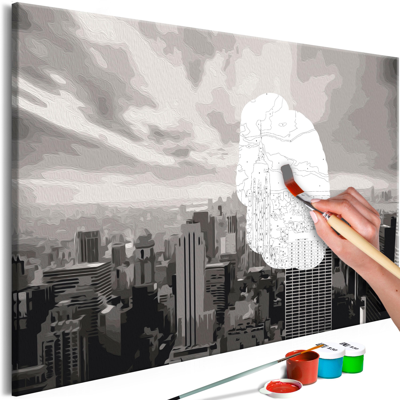 Malování podle čísel - Grey New York 60x40