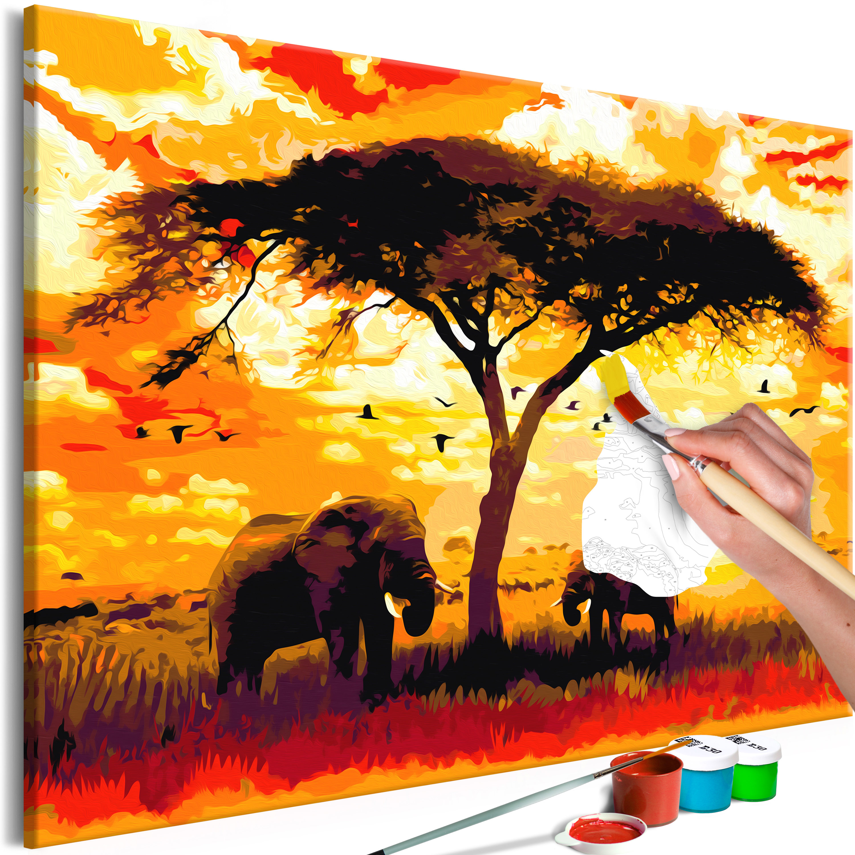 Malování podle čísel - Africa at Sunset 120x80