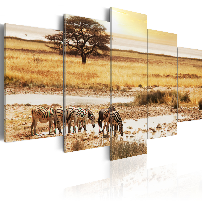 Obraz - Zebry na savaně 200x100