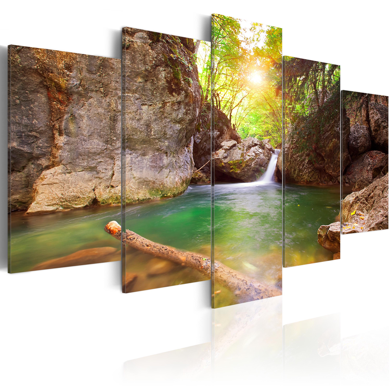 Obraz - Lesní jezero 200x100