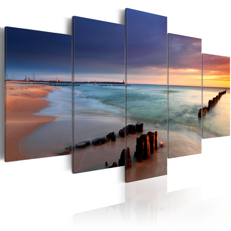 Obraz - Východ slunce u moře 200x100