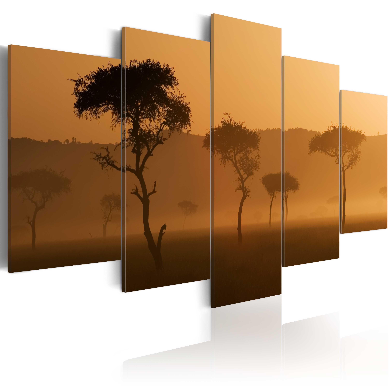 Obraz - Mlha nad savanou 200x100