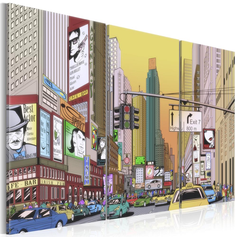 Obraz - Město v komiksu 120x80