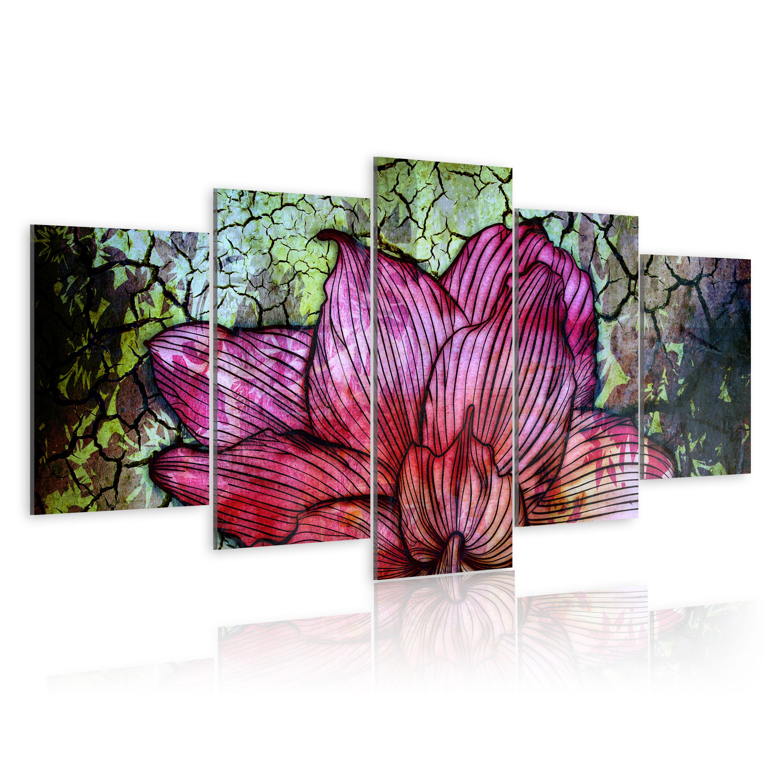 Obraz - Květinový vitráž 200x100