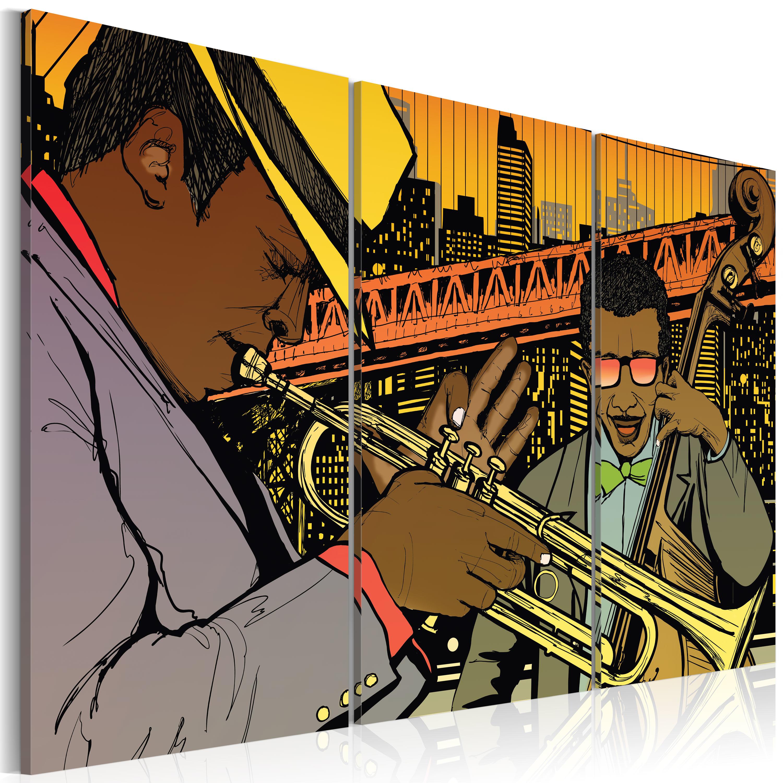 Obraz - Jazz musician 120x80