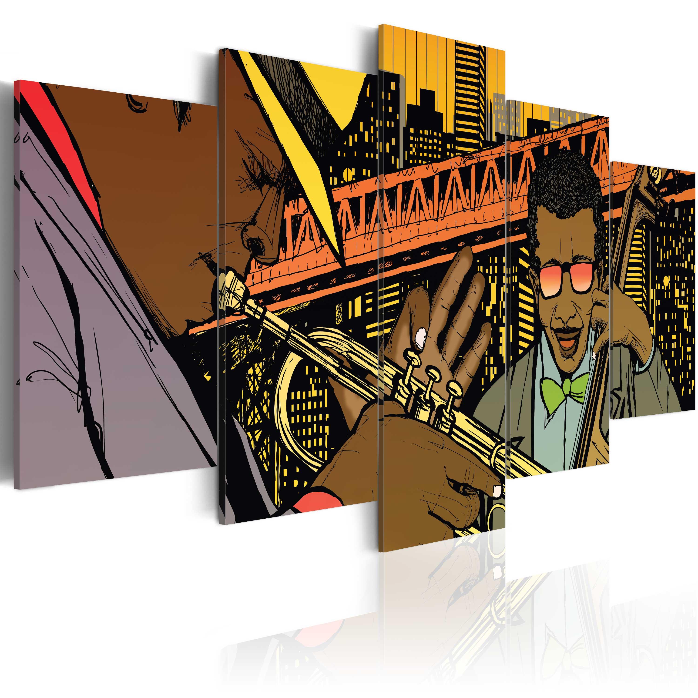 Obraz - Jazz in comic 100x50