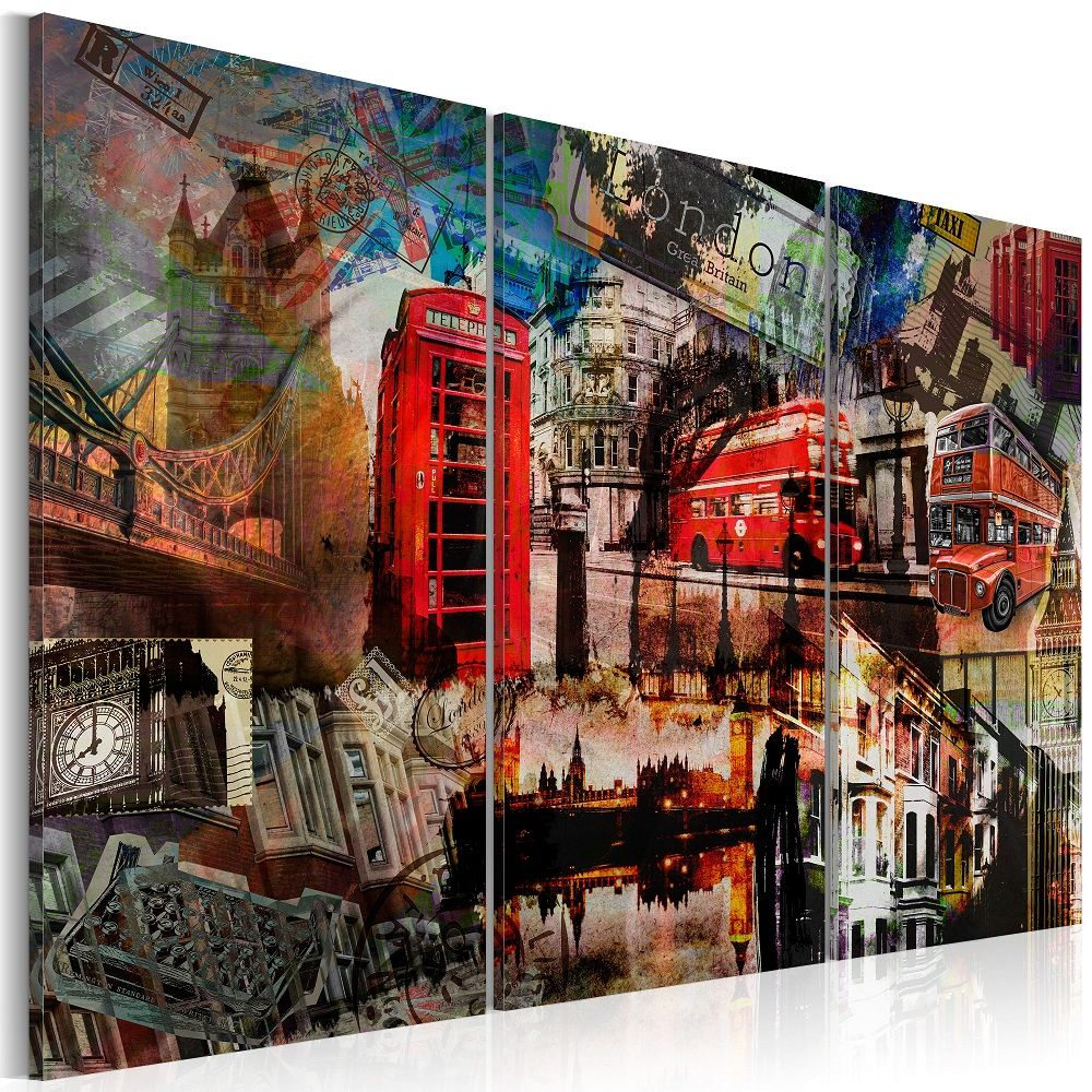 Obraz - London collage - triptych 120x80