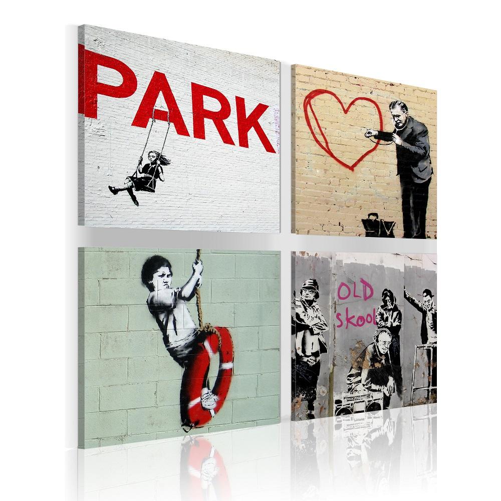 Obraz - Banksy - urban inspiration 40x40