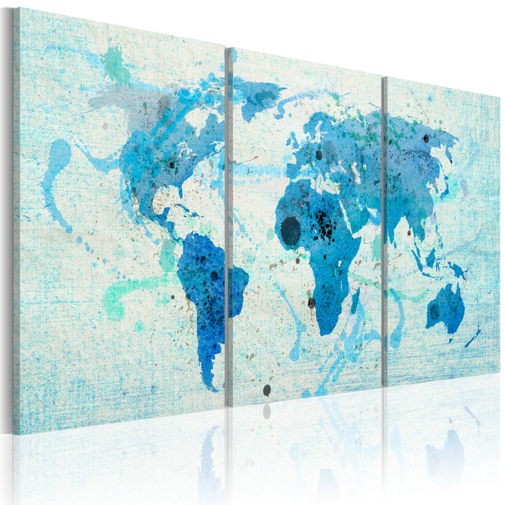 Obraz - Kontinenty jako oceány 120x60