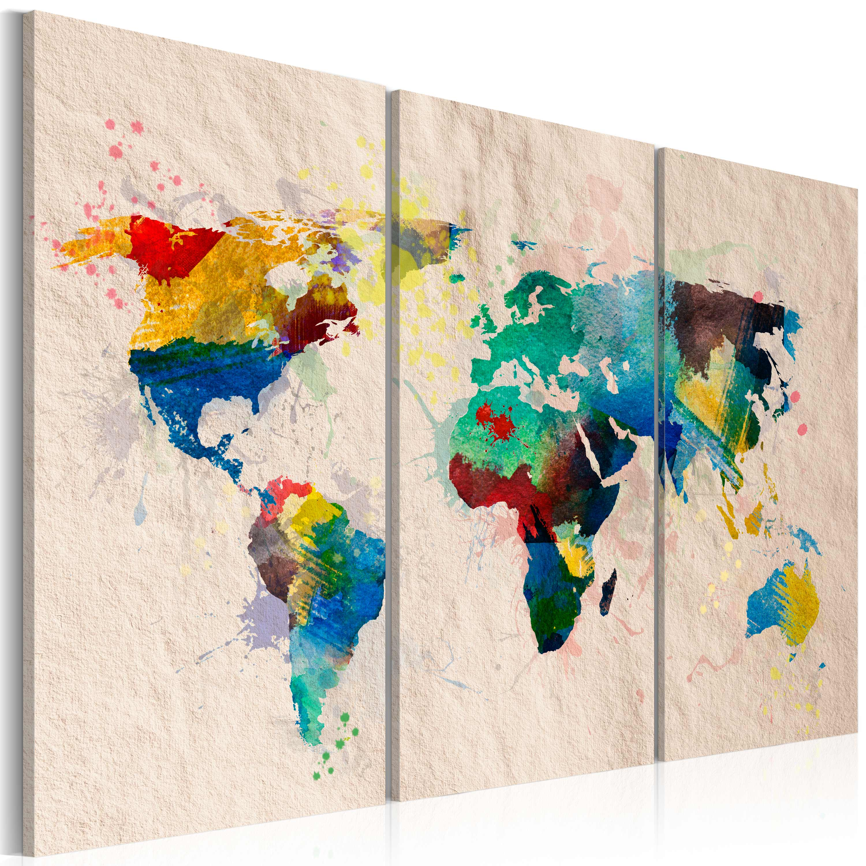 Obraz - The World of colors - triptych 120x80