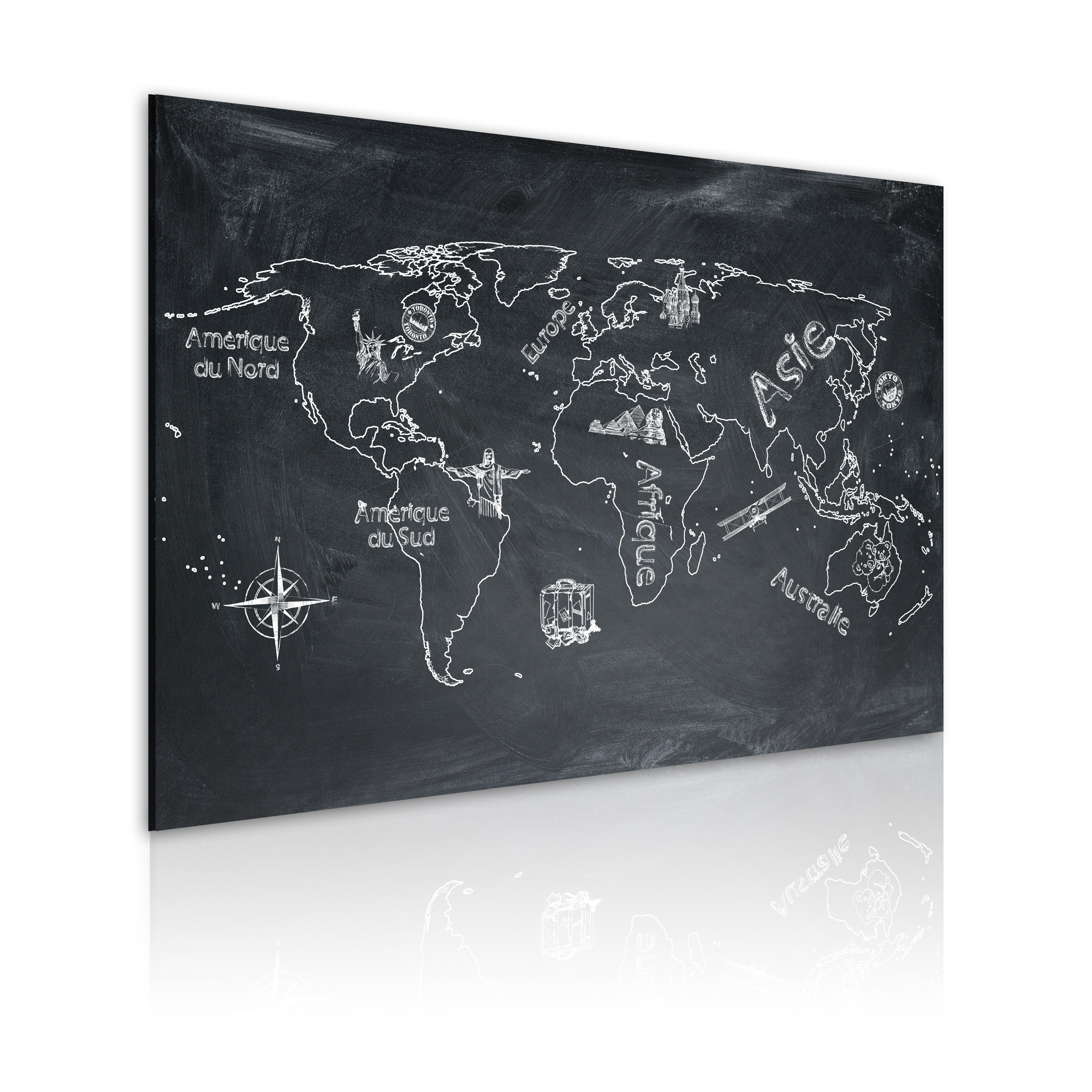 Obraz - Geography lesson (French language) 90x60