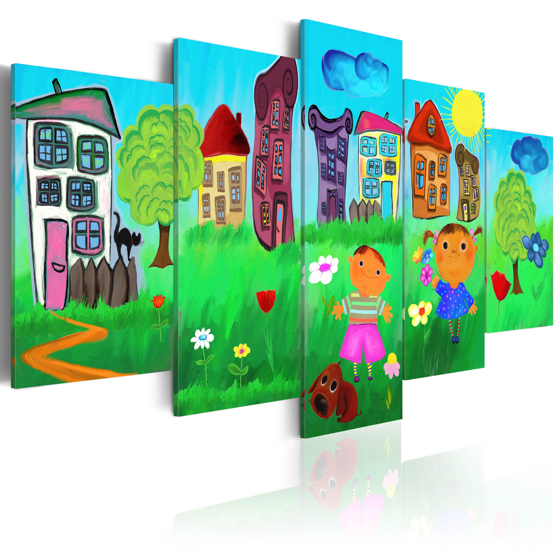 Obraz - Carefree childhood 100x50