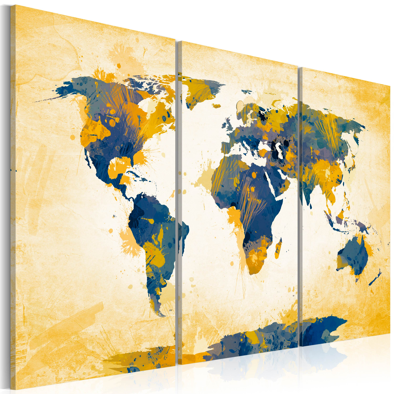Obraz - Four corners of the World - triptych 120x80