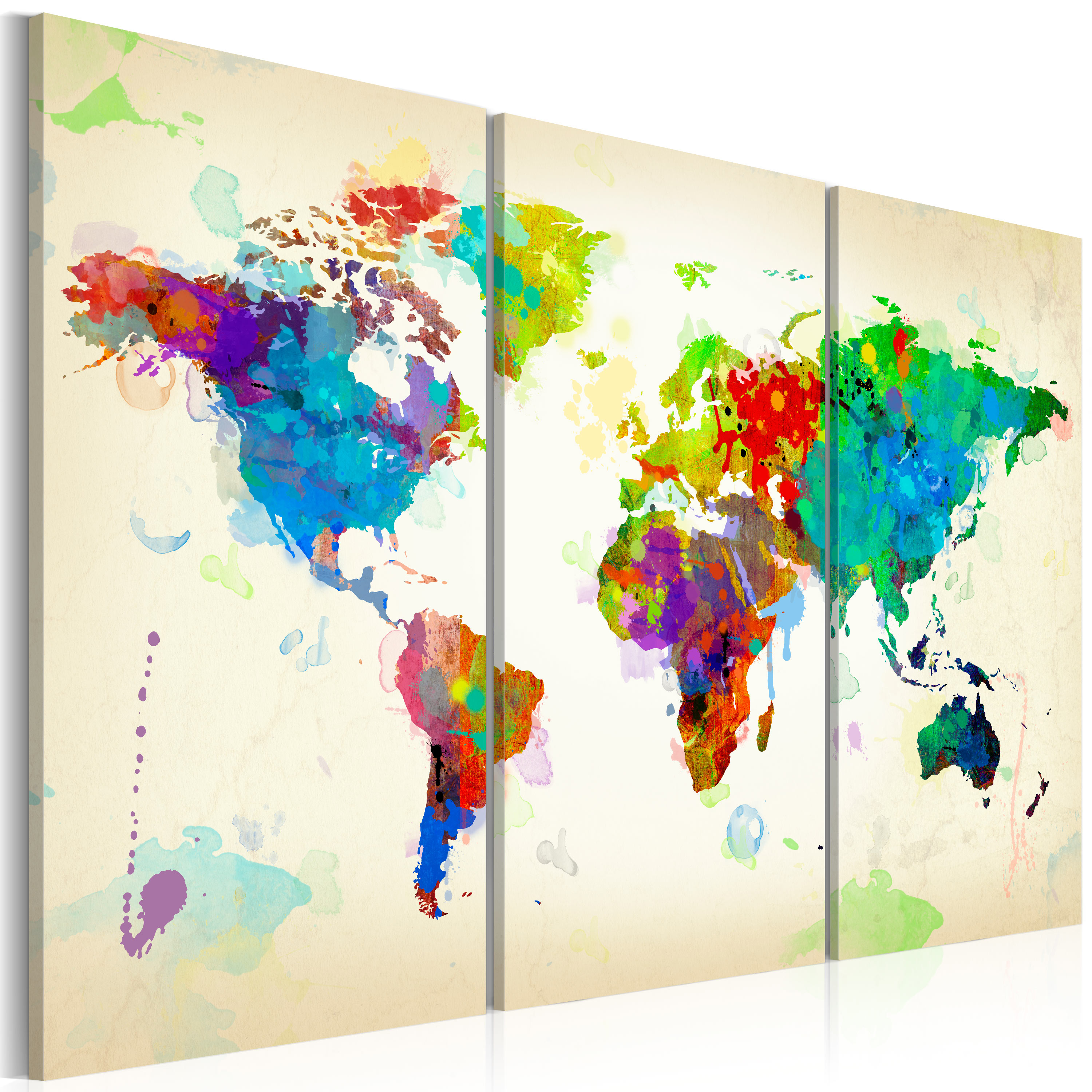 Obraz - All colors of the World - triptych 60x40