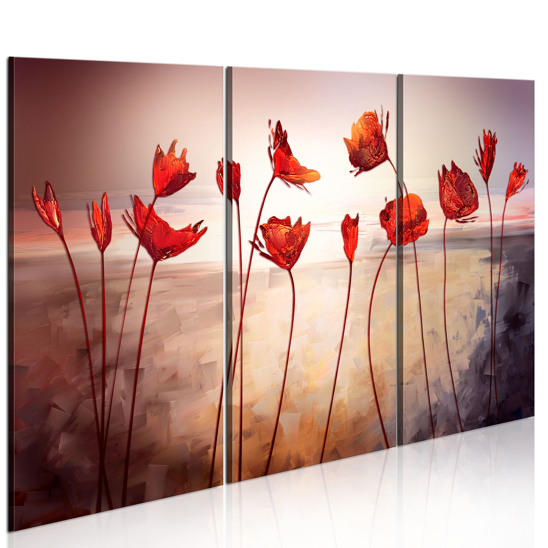 Obraz - Bright red poppies 60x40