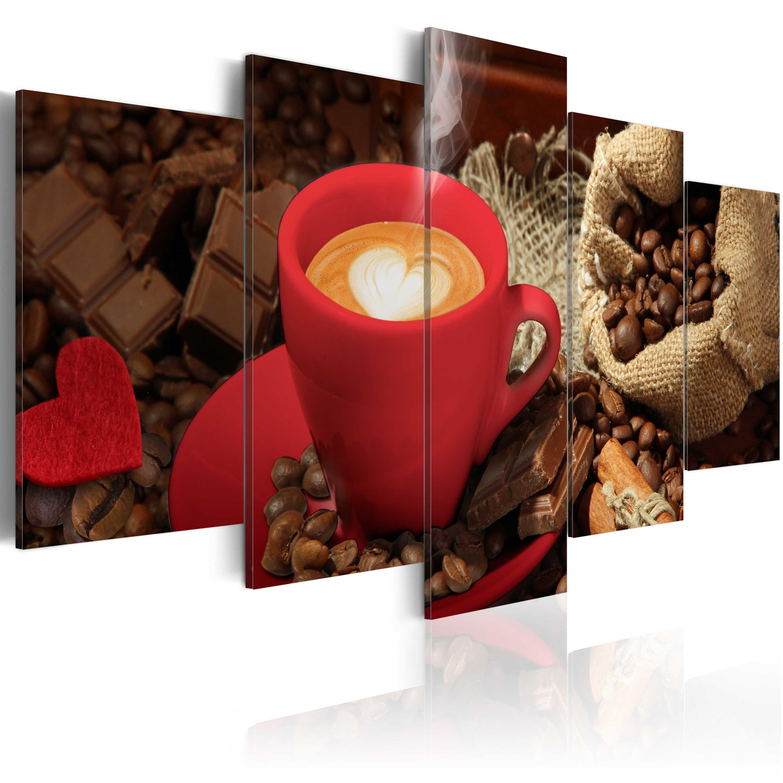Obraz - Love espresso 200x100