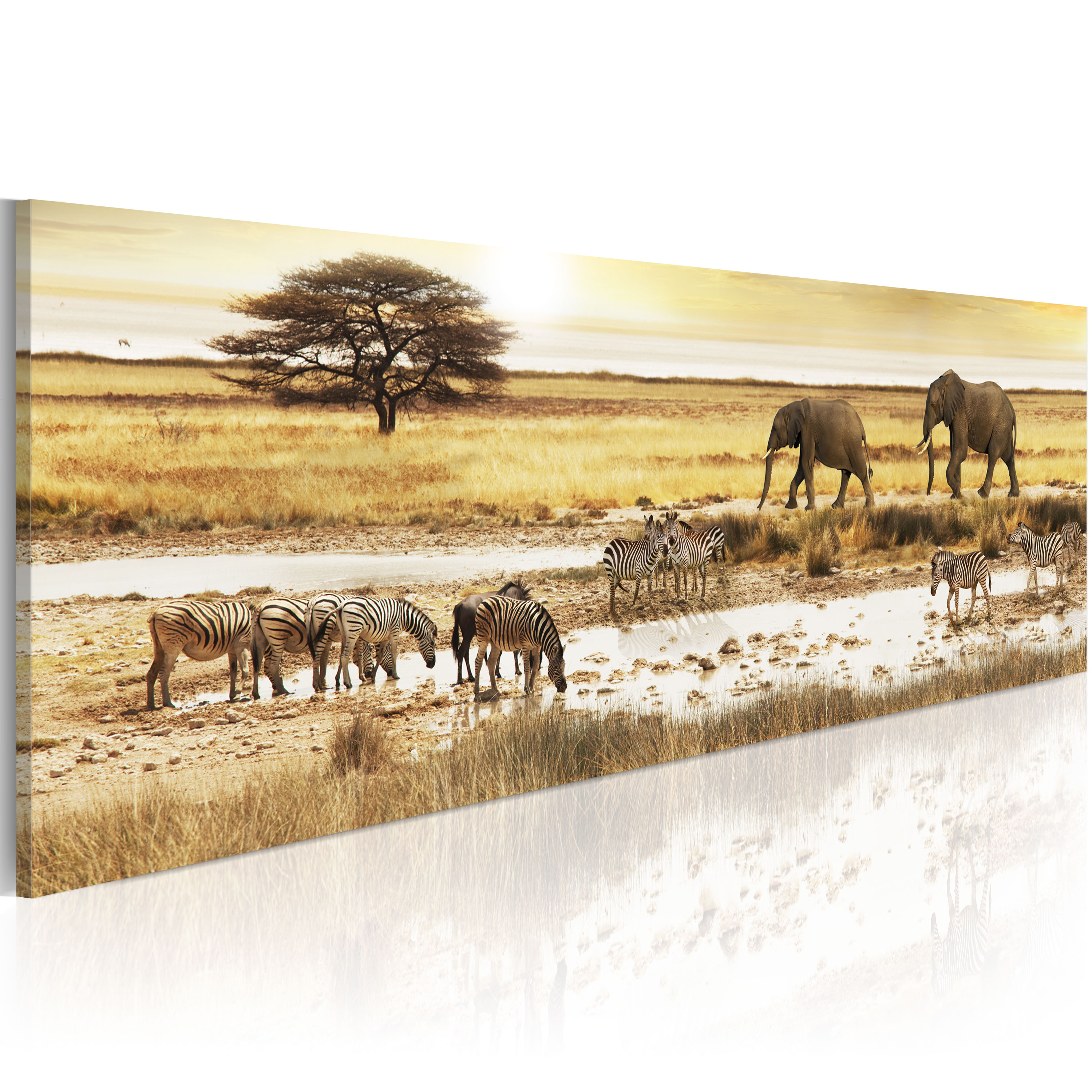 Obraz - Africa: at the waterhole 135x45