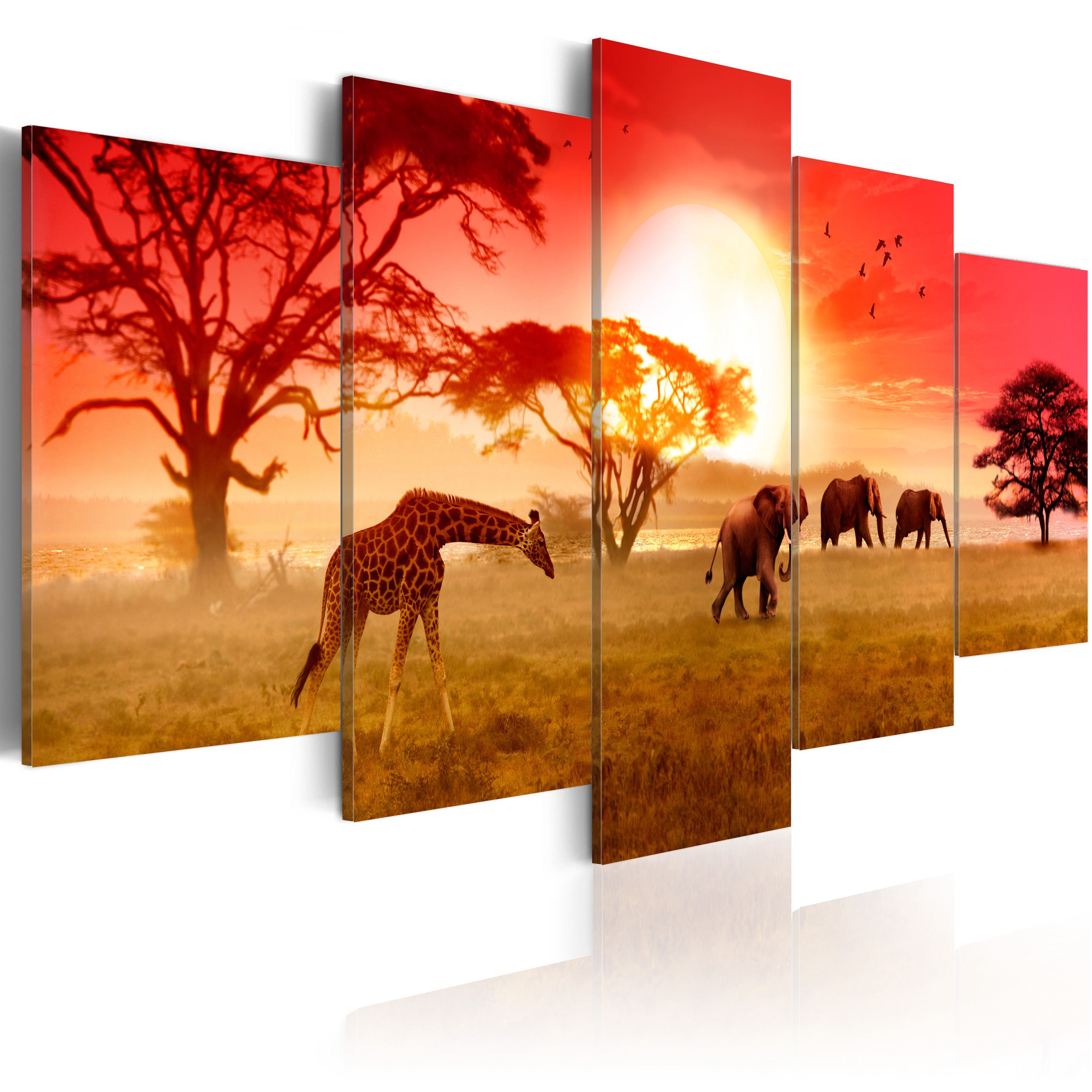 Obraz - Sunny colours of Africa 200x100