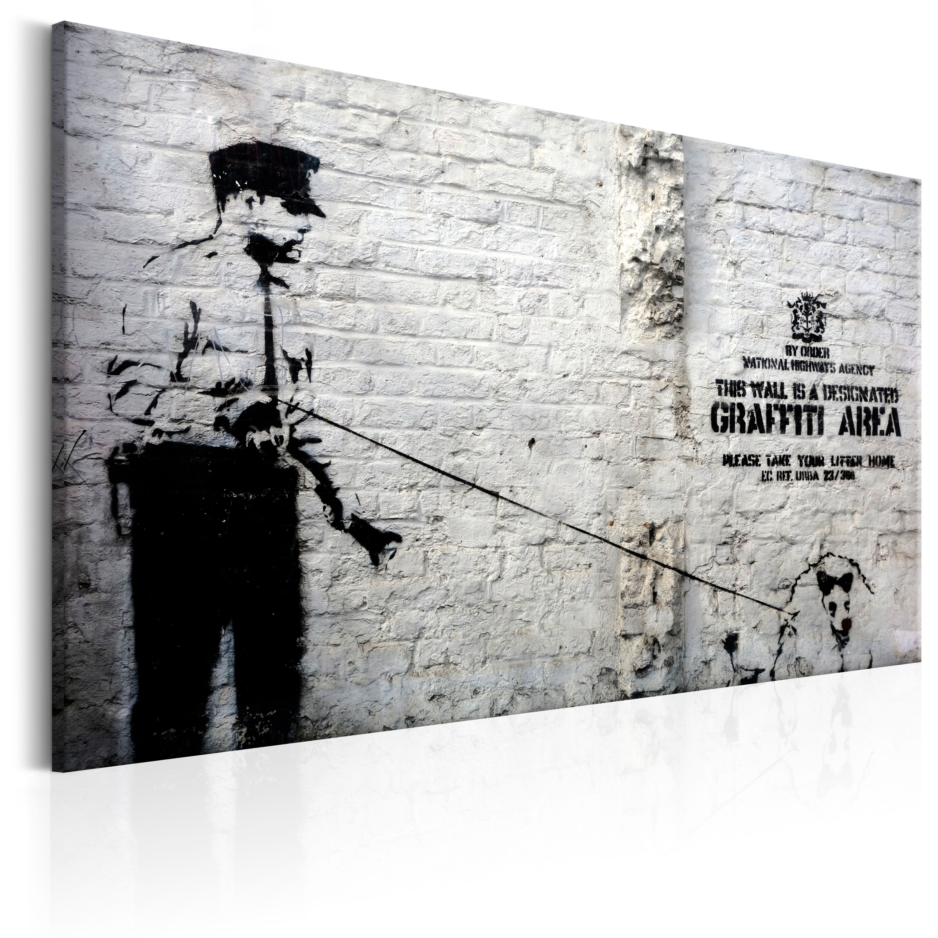 Obraz - Graffiti Area (Police and a Dog) by Banksy 90x60
