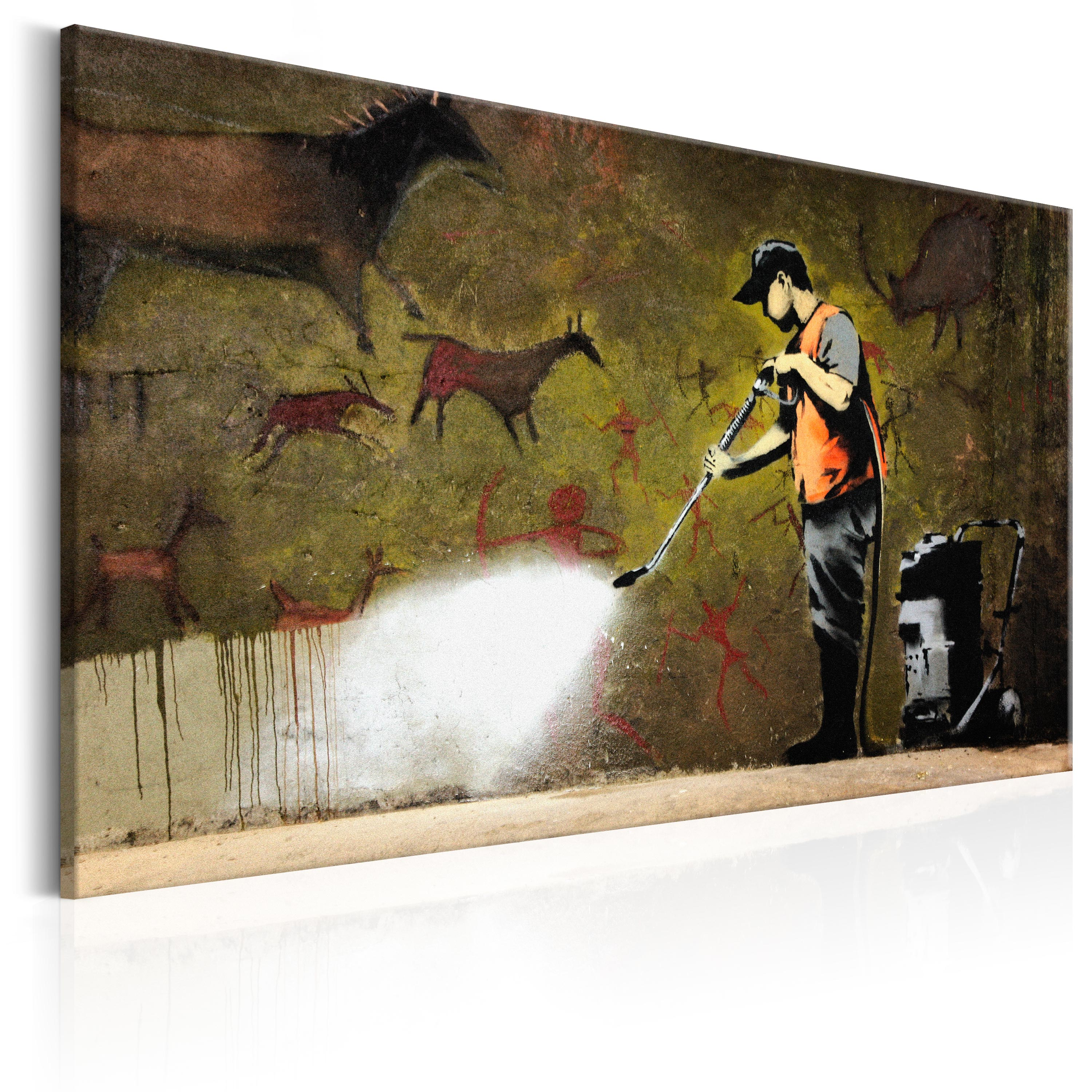 Obraz - Cave Painting by Banksy 60x40