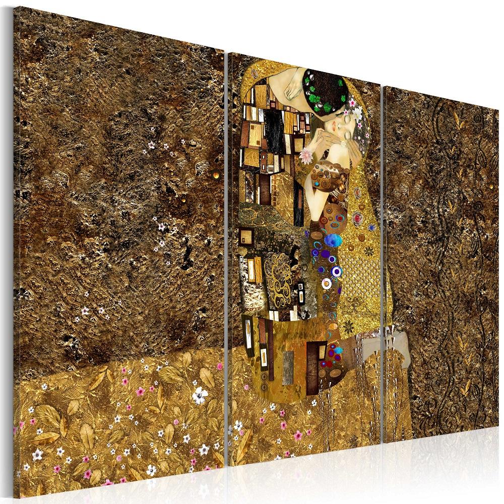 Obraz - Klimt inspiration - Kiss 120x80