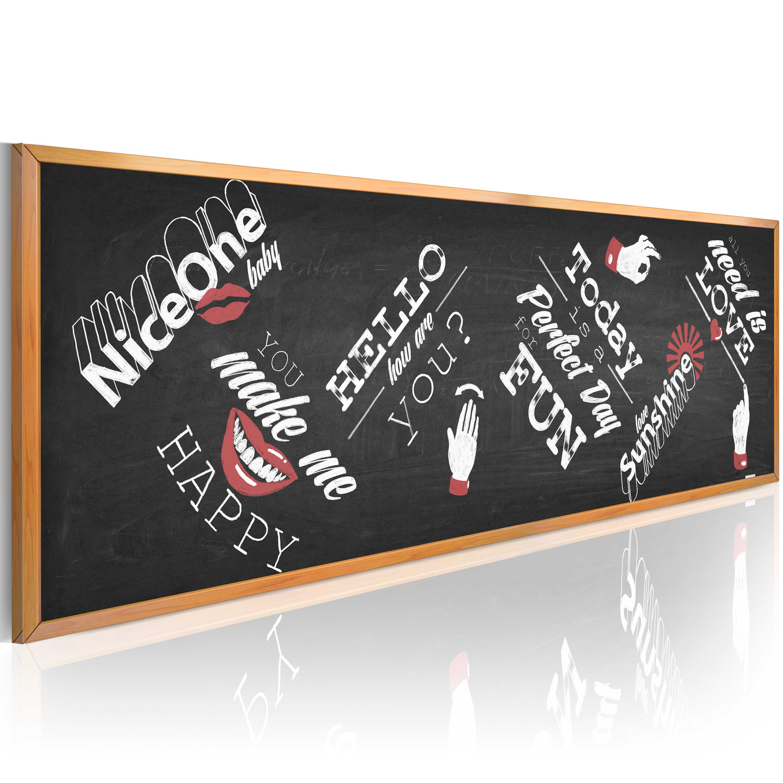 Obraz - Funny blackboard 135x45