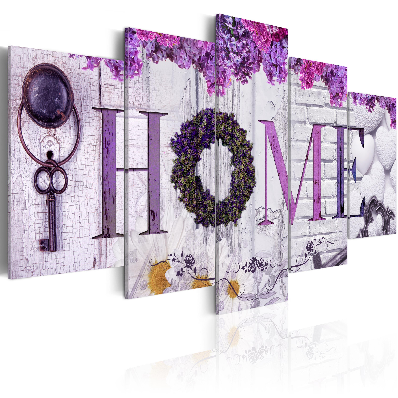 Obraz - Purple House 100x50
